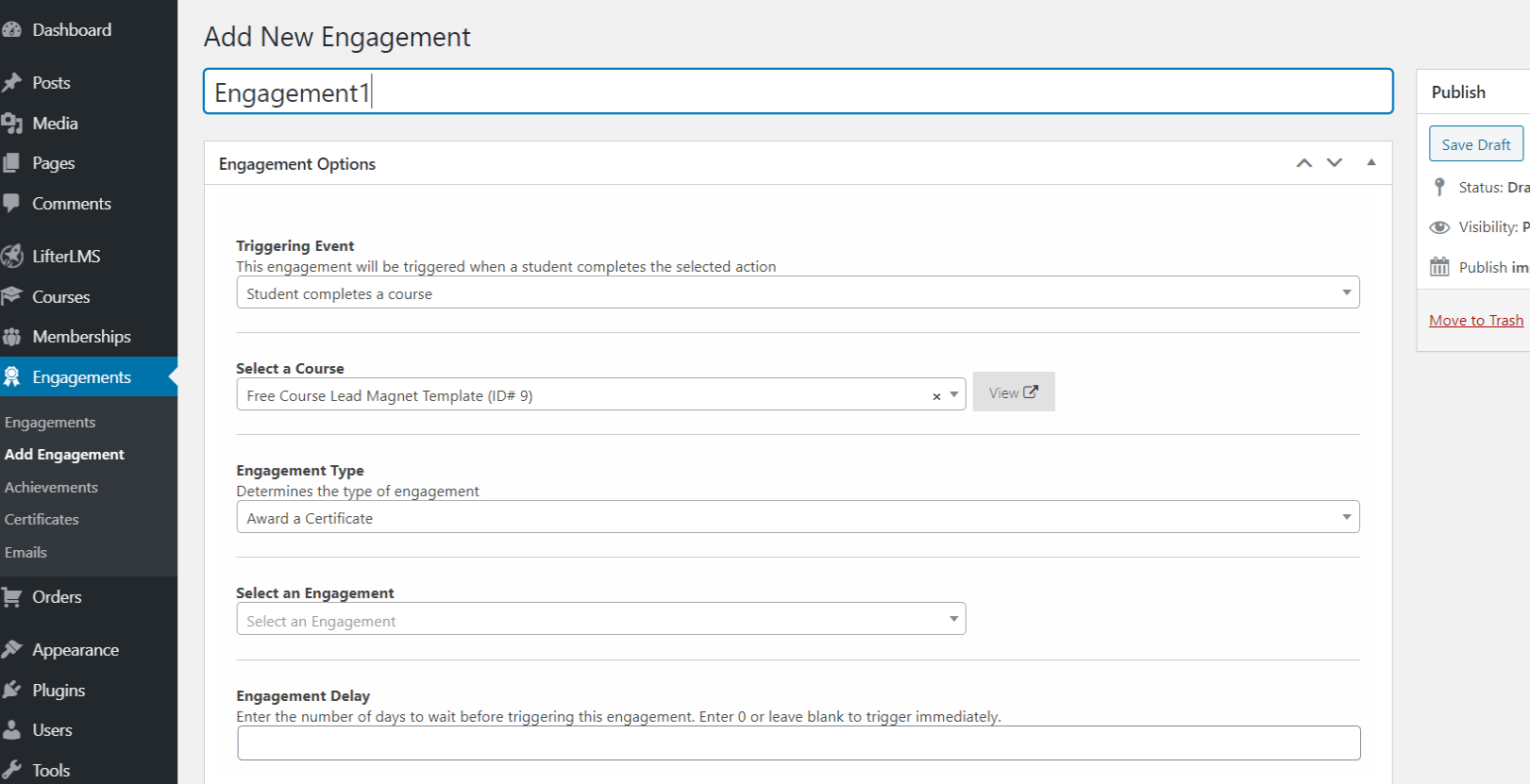 LifterLMS Engagement