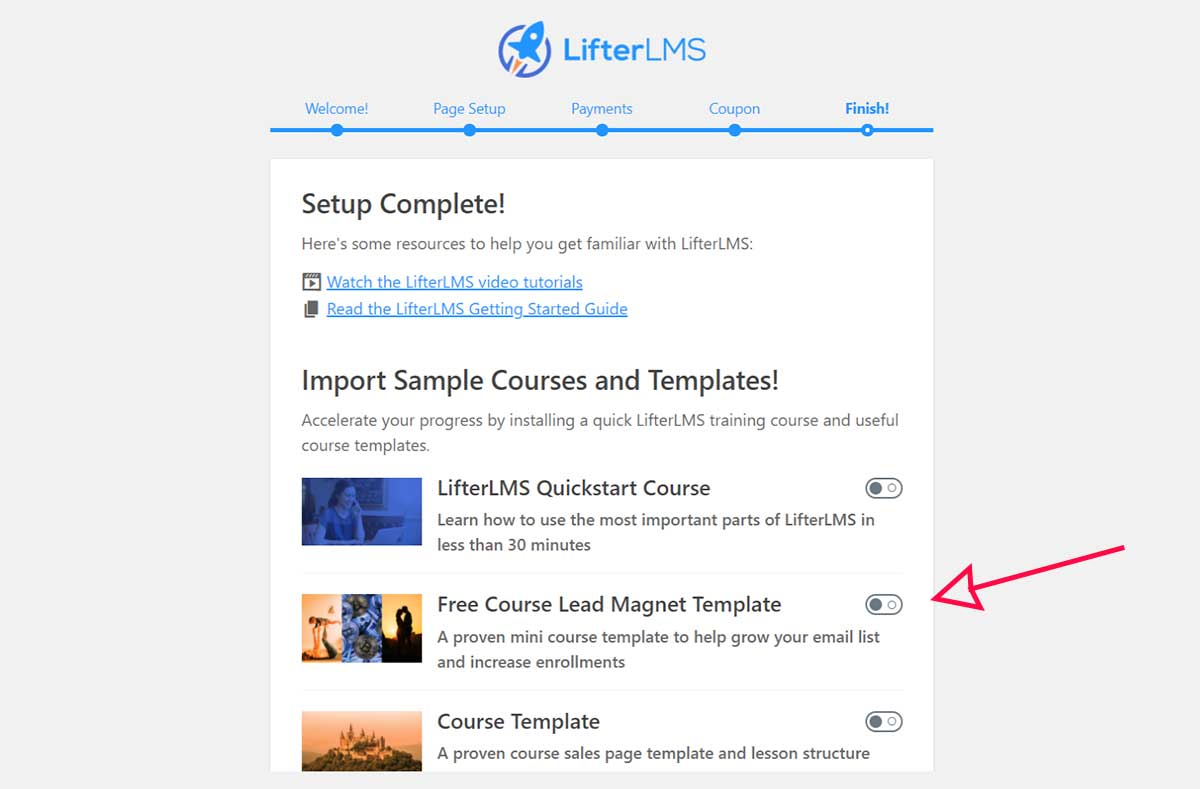 LifterLMS-Import-Course