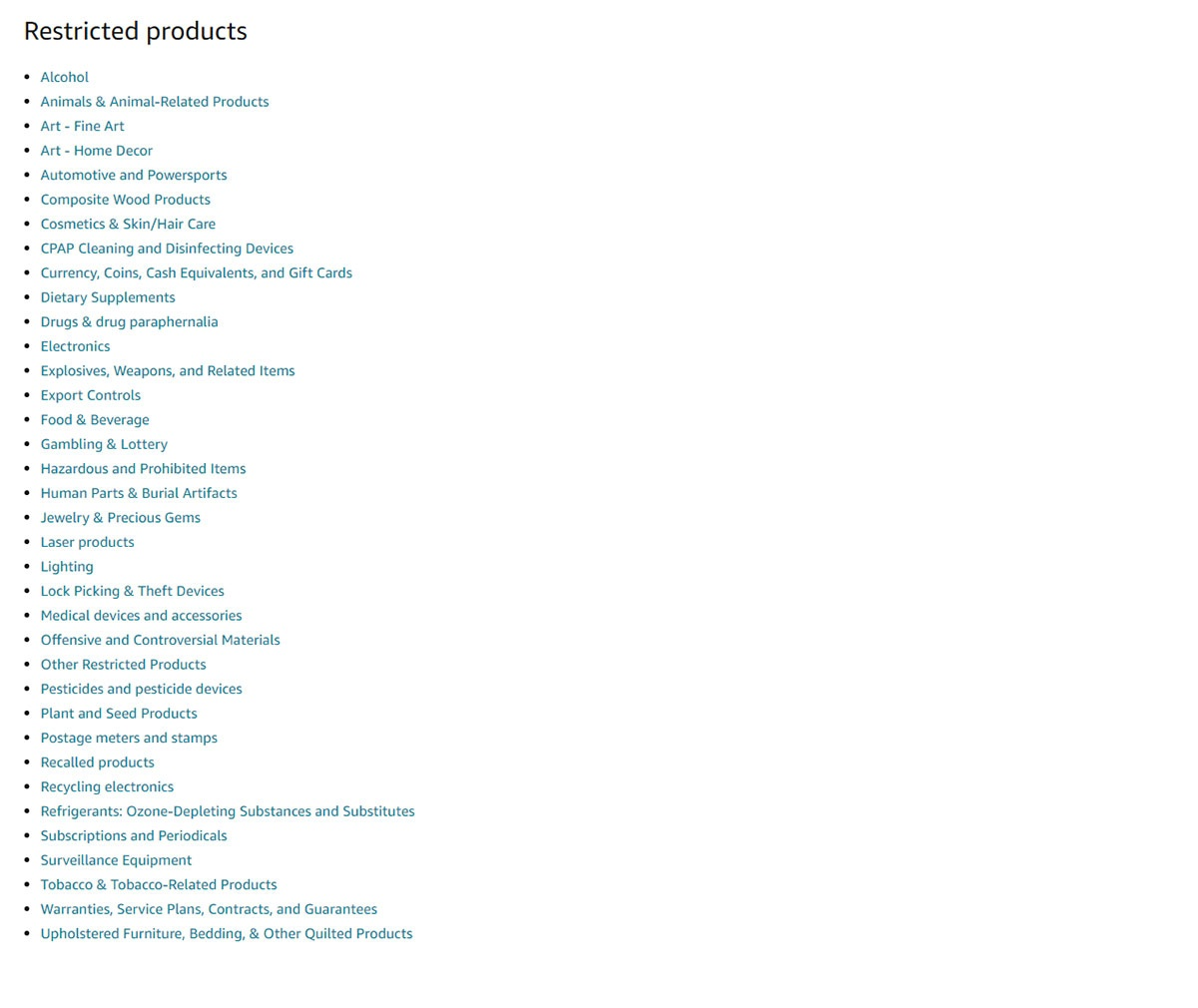 Restricted-products